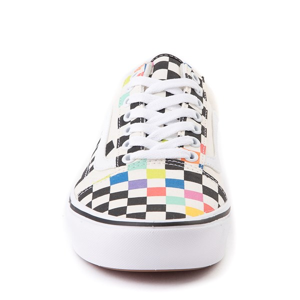 alternate view Vans x MoMA Old Skool ComfyCush® Checkerboard Skate Shoe - White / RainbowALT4