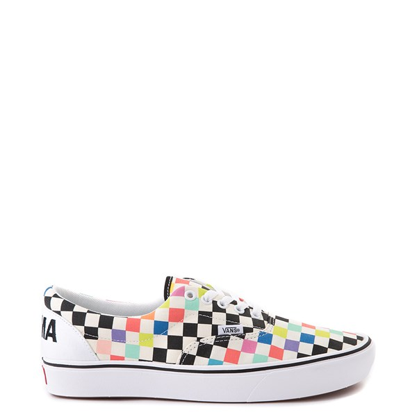 Vans x MoMA Era ComfyCush® Checkerboard Skate Shoe - White / Rainbow