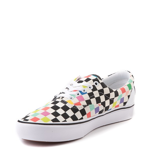 alternate view Vans x MoMA Era ComfyCush® Checkerboard Skate Shoe - White / RainbowALT3