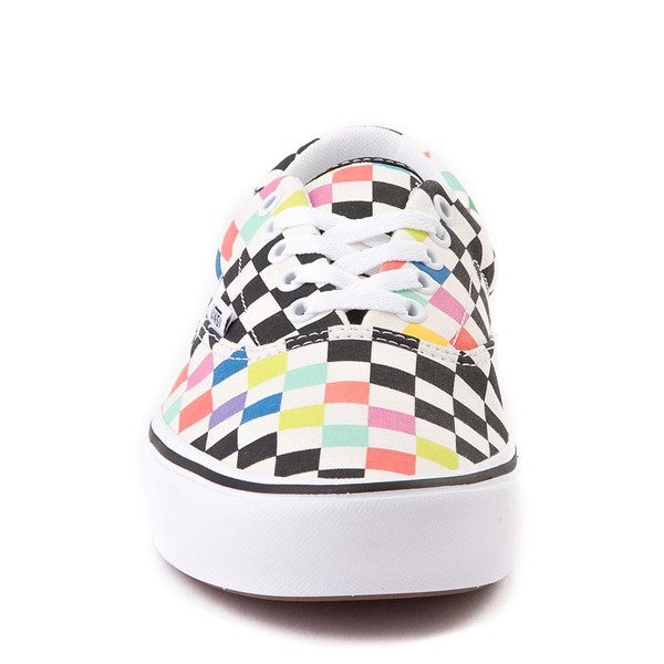 alternate view Vans x MoMA Era ComfyCush® Checkerboard Skate Shoe - White / RainbowALT4