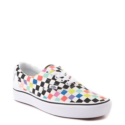 Alternate view of Vans x MoMA Era ComfyCush® Checkerboard Skate Shoe - White / Rainbow
