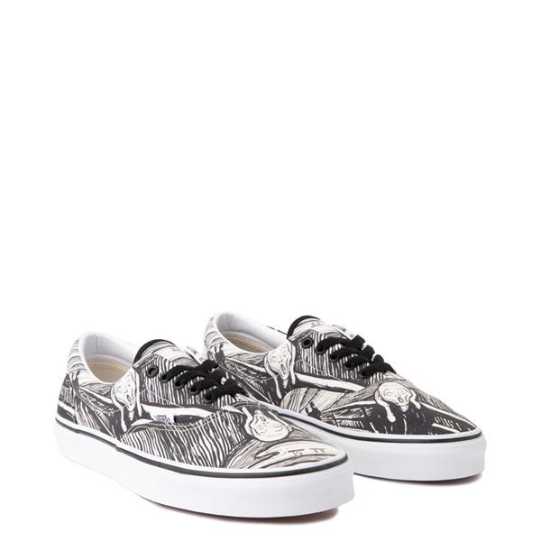 alternate view Vans x MoMA Era Edvard Munch Skate Shoe - White / BlackALT1