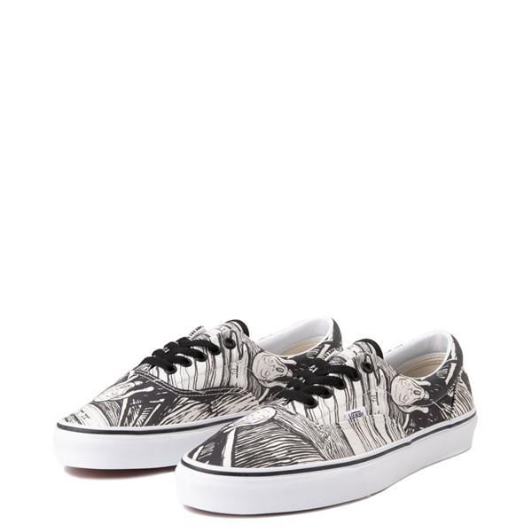 alternate view Vans x MoMA Era Edvard Munch Skate Shoe - White / BlackALT3