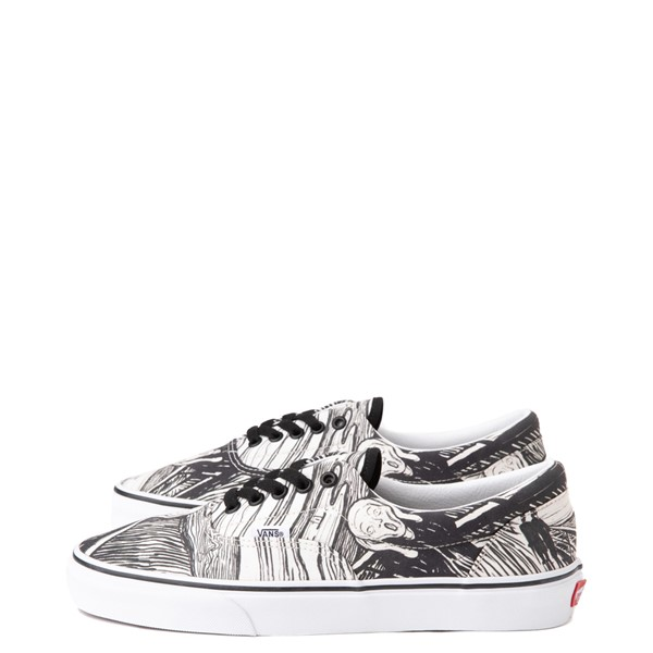 alternate view Vans x MoMA Era Edvard Munch Skate Shoe - White / BlackALT6
