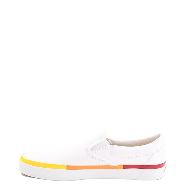 alternate view Vans Slip On Skate Shoe - White / RainbowALT1