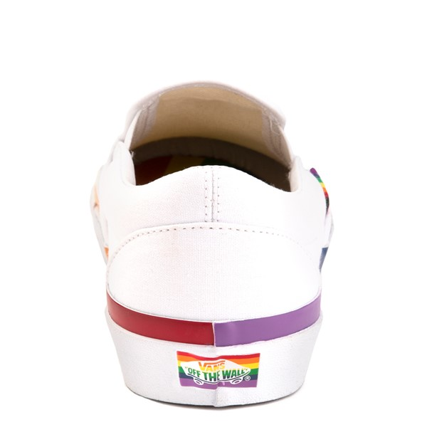 alternate view Vans Slip On Skate Shoe - White / RainbowALT2B