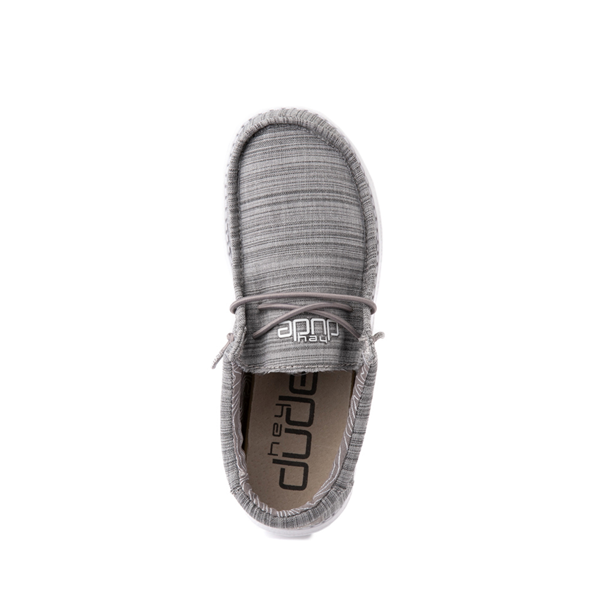 alternate view Hey Dude Wally Casual Shoe - Little Kid / Big Kid - StoneALT2
