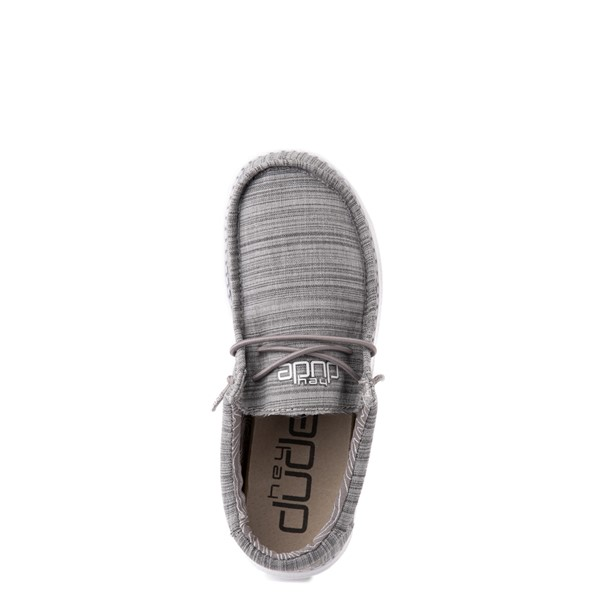 alternate view Hey Dude Wally Casual Shoe - Little Kid / Big Kid - StoneALT4B