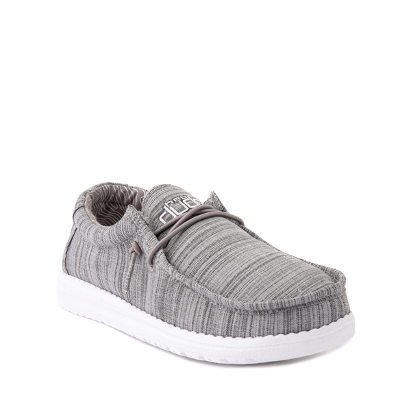 alternate view Hey Dude Wally Casual Shoe - Little Kid / Big Kid - StoneALT5
