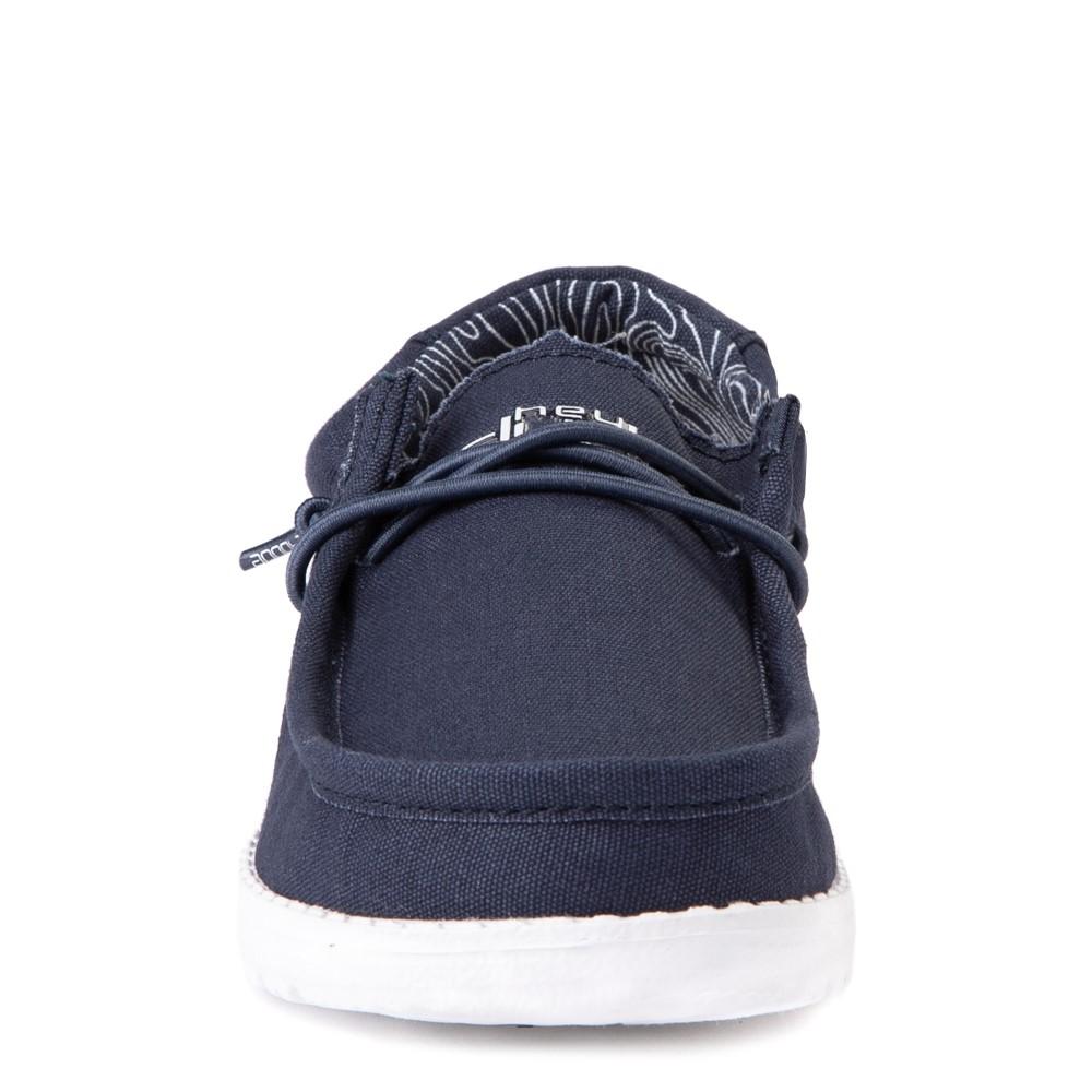 5, Navy Hey Dude Wally Youth Shoes