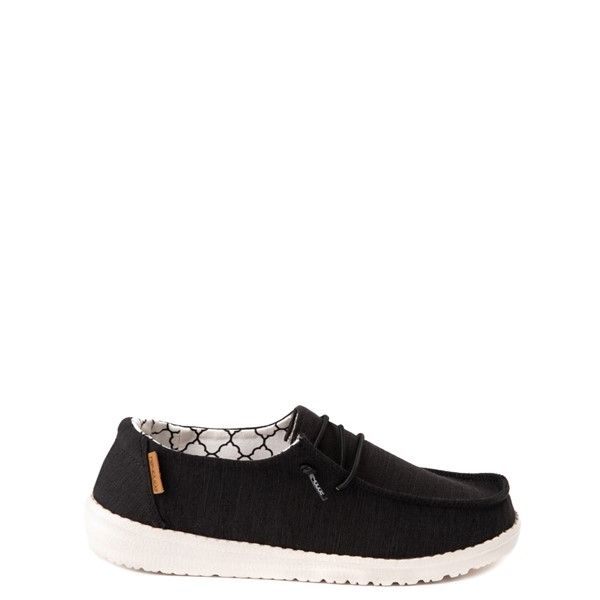 Main view of Hey Dude Wendy Slip On Casual Shoe - Little Kid - Black