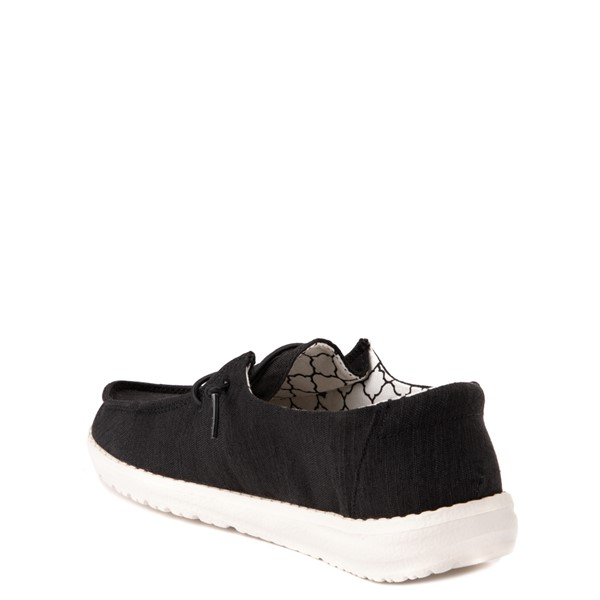 alternate view Hey Dude Wendy Slip On Casual Shoe - Little Kid - BlackALT1