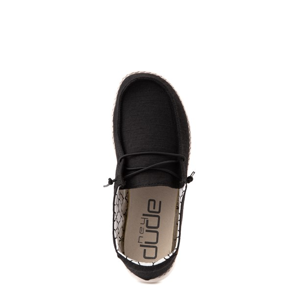 alternate view Hey Dude Wendy Slip On Casual Shoe - Little Kid - BlackALT4B