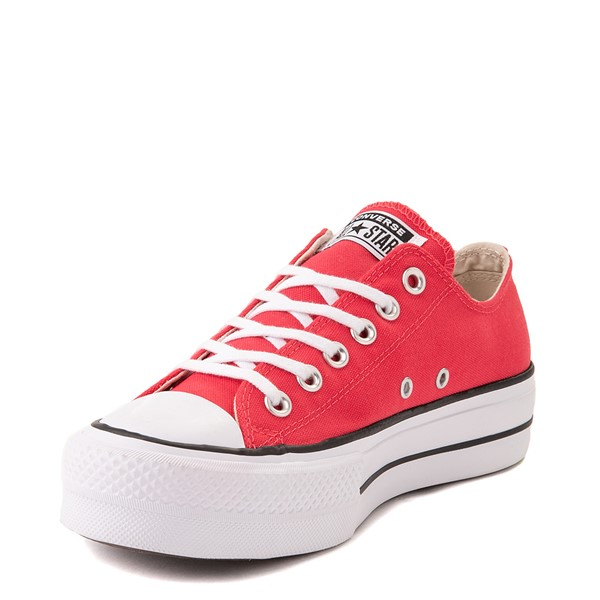 alternate view Womens Converse Chuck Taylor All Star Lo Platform Sneaker - Carmine PinkALT3