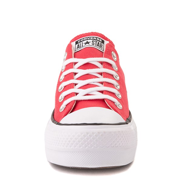 alternate view Womens Converse Chuck Taylor All Star Lo Platform Sneaker - Carmine PinkALT4