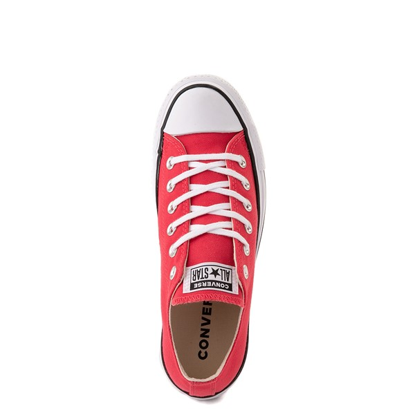 alternate view Womens Converse Chuck Taylor All Star Lo Platform Sneaker - Carmine PinkALT4B