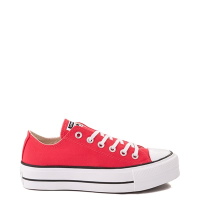 Main view of Womens Converse Chuck Taylor All Star Lo Platform Sneaker - Carmine Pink