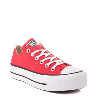 Alternate view of Womens Converse Chuck Taylor All Star Lo Platform Sneaker - Carmine Pink