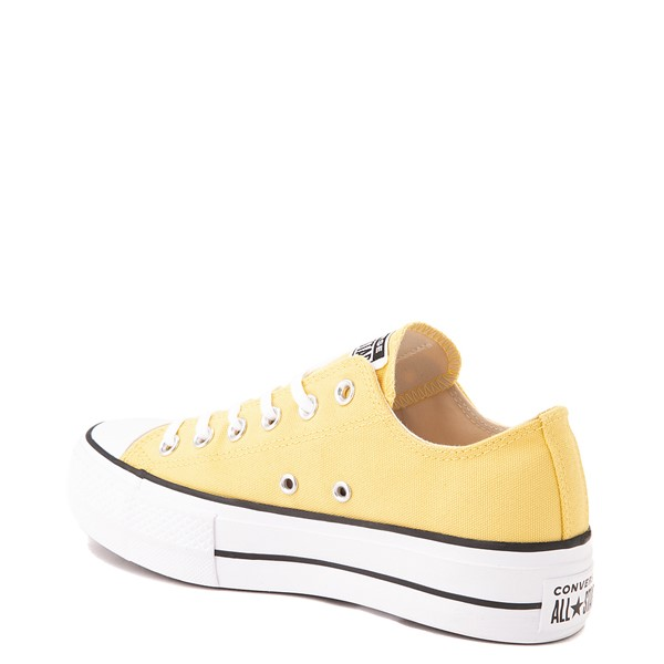 alternate view Womens Converse Chuck Taylor All Star Lo Platform Sneaker - Butter YellowALT2
