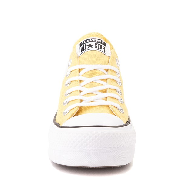 alternate view Womens Converse Chuck Taylor All Star Lo Platform Sneaker - Butter YellowALT4