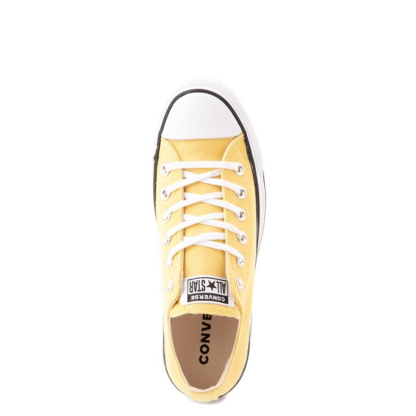 alternate view Womens Converse Chuck Taylor All Star Lo Platform Sneaker - Butter YellowALT4B