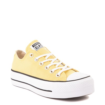 Alternate view of Womens Converse Chuck Taylor All Star Lo Platform Sneaker - Butter Yellow