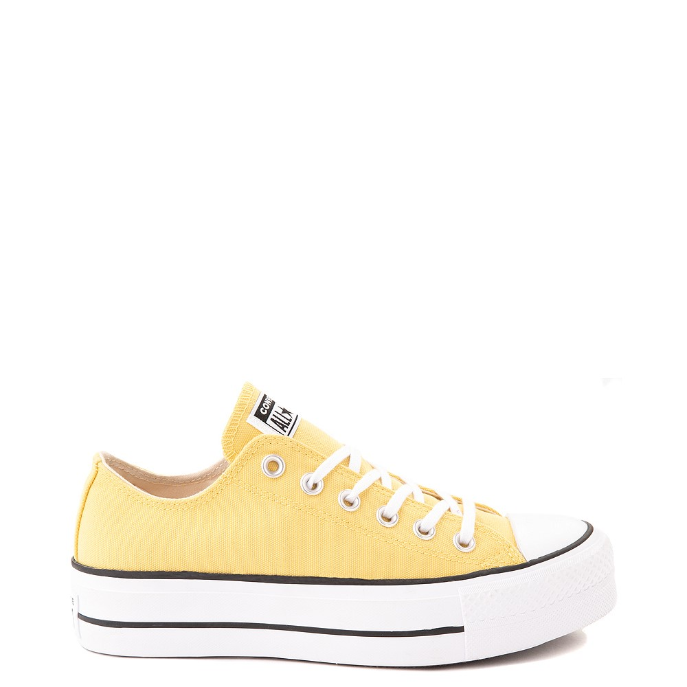 Womens Converse Chuck Taylor All Star Lo Platform Sneaker - Butter Yellow