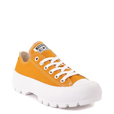 Alternate view of Womens Converse Chuck Taylor All Star Lo Lugged Sneaker - Saffron