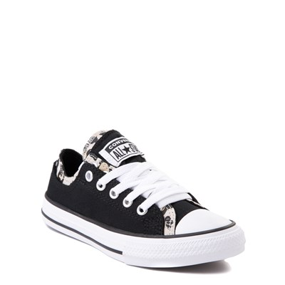 Alternate view of Converse Chuck Taylor All Star Lo Double Upper Sneaker - Little Kid / Big Kid - Black / Leopard