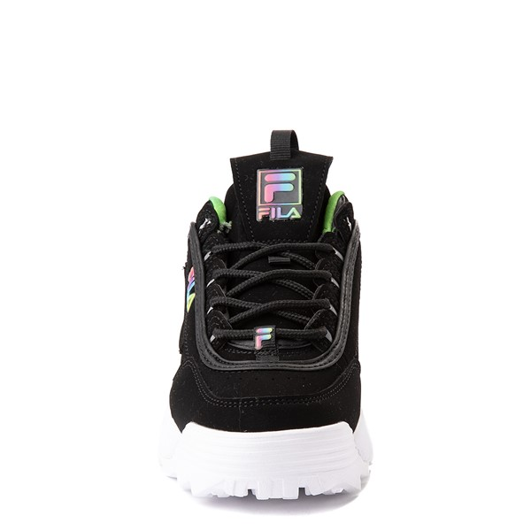 alternate view Fila Disruptor 2 Athletic Shoe - Little Kid - Black / RainbowALT4