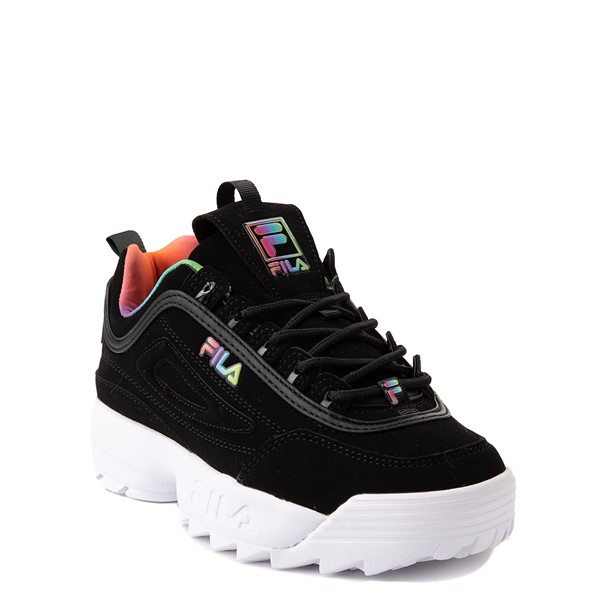 alternate view Fila Disruptor 2 Athletic Shoe - Little Kid - Black / RainbowALT5