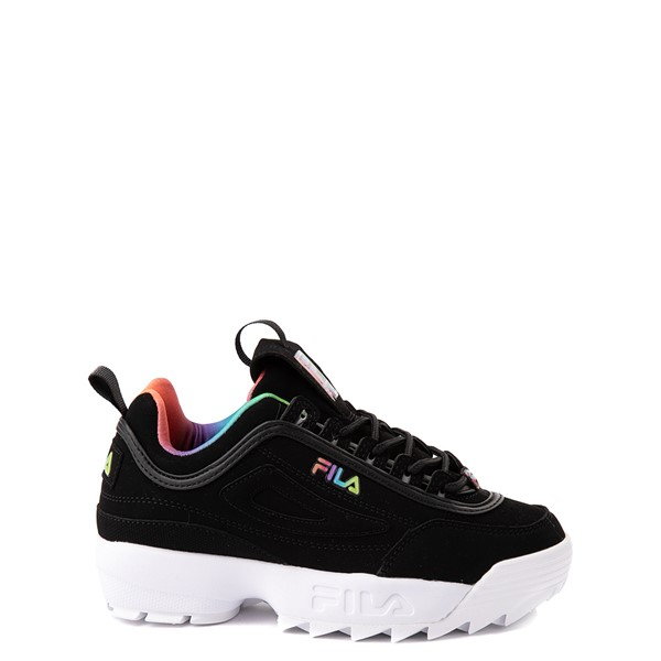 Fila Disruptor 2 Athletic Shoe - Big Kid - Black / Rainbow