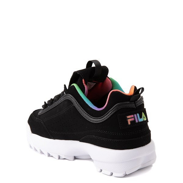 alternate view Fila Disruptor 2 Athletic Shoe - Big Kid - Black / RainbowALT1
