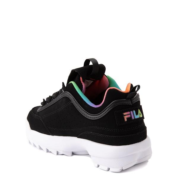 alternate view Fila Disruptor 2 Athletic Shoe - Big Kid - Black / RainbowALT1