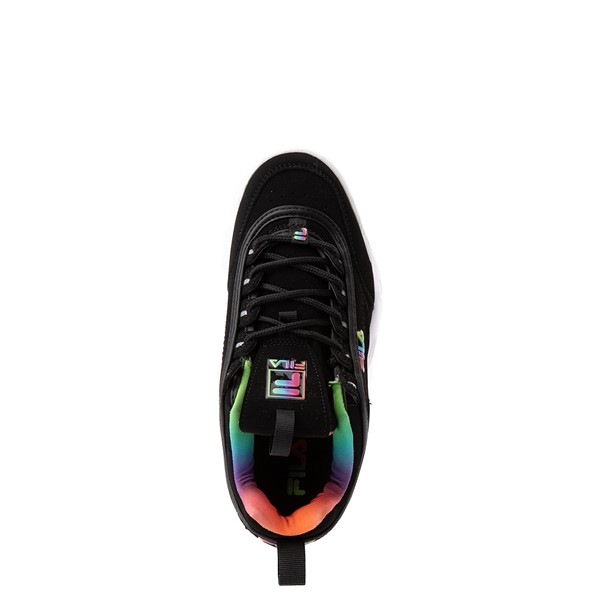 alternate view Fila Disruptor 2 Athletic Shoe - Big Kid - Black / RainbowALT2