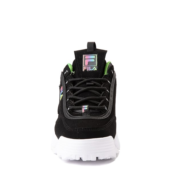 alternate view Fila Disruptor 2 Athletic Shoe - Big Kid - Black / RainbowALT4