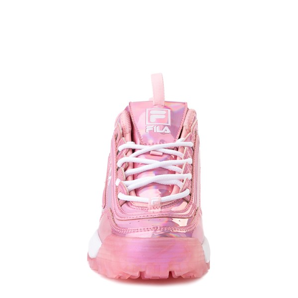 alternate view Fila Disruptor 2 Athletic Shoe - Little Kid - Iridescent PinkALT4
