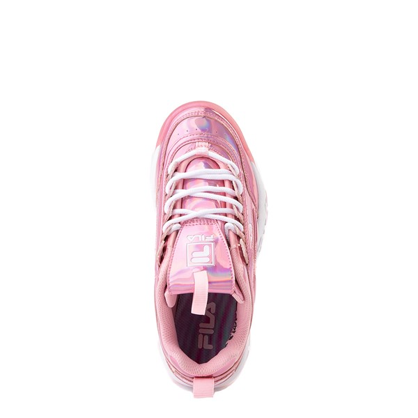 alternate view Fila Disruptor 2 Athletic Shoe - Little Kid - Iridescent PinkALT4B