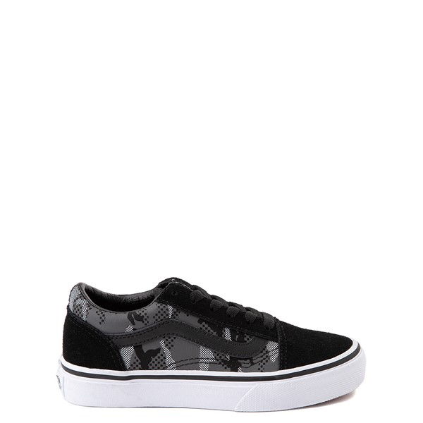 Main view of Vans Old Skool Skate Shoe - Big Kid - Black / Gray Camo