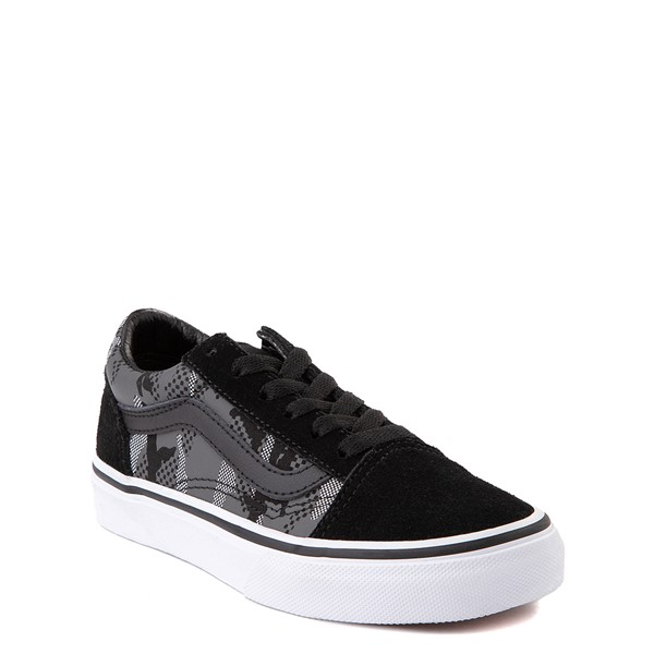 alternate view Vans Old Skool Skate Shoe - Big Kid - Black / Gray CamoALT5