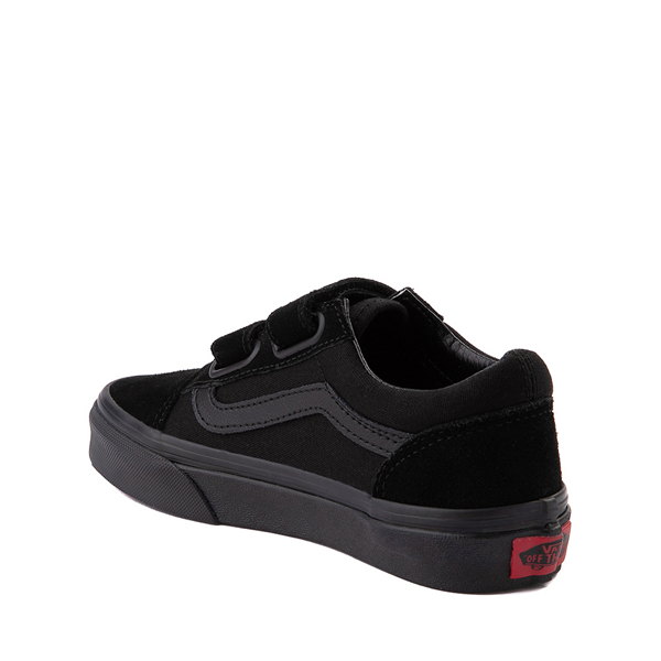 alternate view Vans Old Skool V Skate Shoe - Big Kid - Black MonochromeALT1