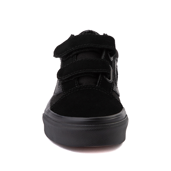 alternate view Vans Old Skool V Skate Shoe - Big Kid - Black MonochromeALT4