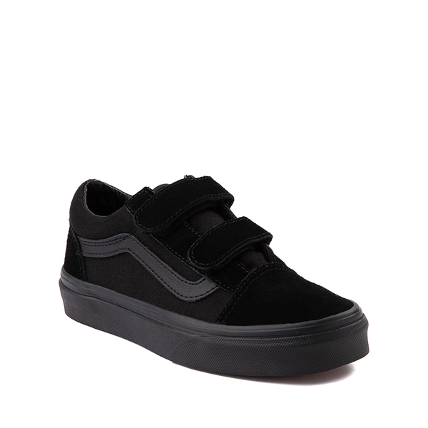 alternate view Vans Old Skool V Skate Shoe - Big Kid - Black MonochromeALT5