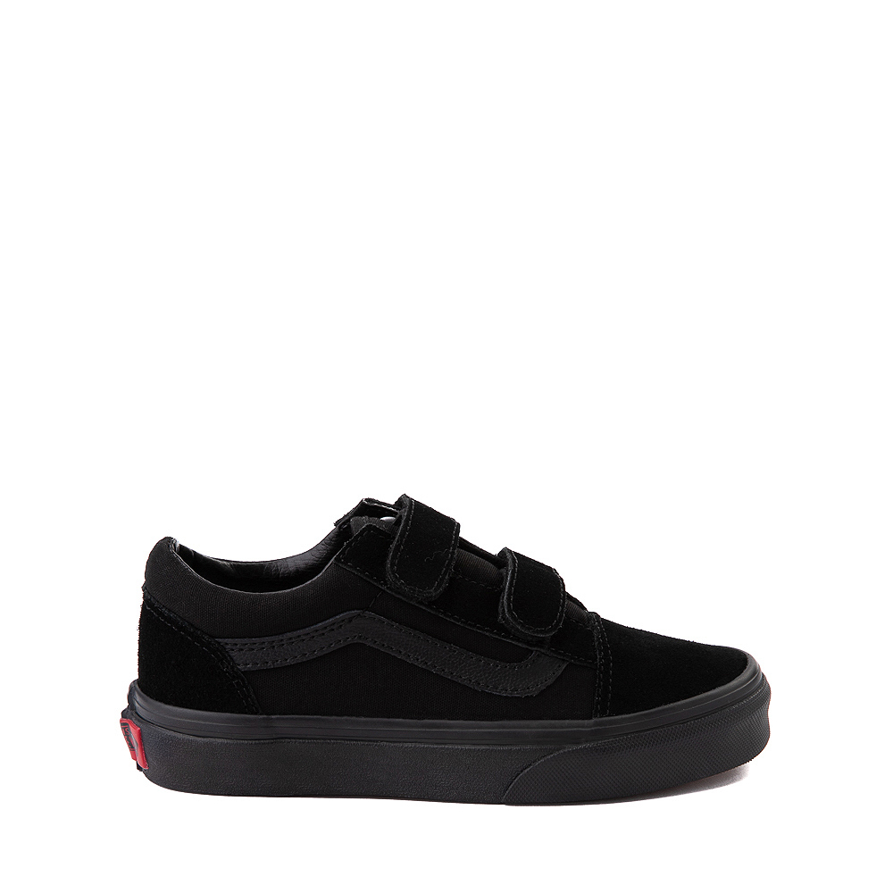 Vans Old Skool V Skate Shoe - Big Kid - Black Monochrome