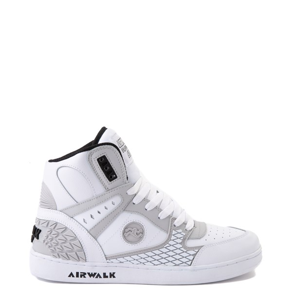 Mens Airwalk Prototype 600°F Hi Skate Shoe - White / Gray / Black