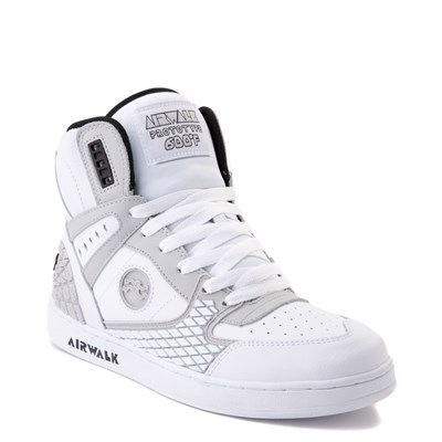 Alternate view of Mens Airwalk Prototype 600°F Hi Skate Shoe - White / Gray / Black