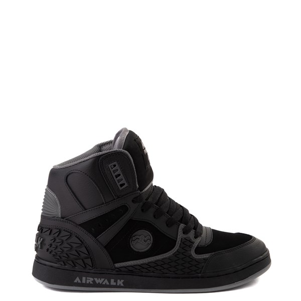 Mens Airwalk Prototype 600°F Hi Skate Shoe - Black / Charcoal