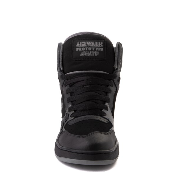alternate view Mens Airwalk Prototype 600°F Hi Skate Shoe - Black / CharcoalALT4