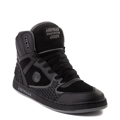 Alternate view of Mens Airwalk Prototype 600°F Hi Skate Shoe - Black / Charcoal