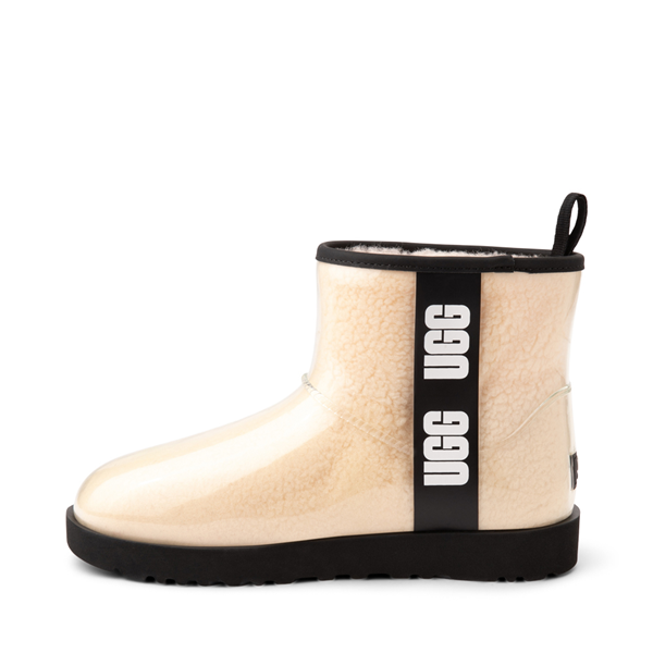 alternate view Womens UGG® Classic Clear Mini II Boot - Natural / BlackALT1